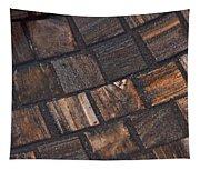 Bronze Tile Squares Tapestry