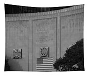 Brooklyn Battery Tunnel In Black And White Tapestry