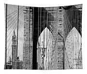 Brooklyn Bridge New York City Usa Tapestry