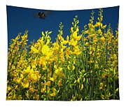 Broom And Carpenter Bee Tapestry