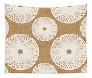 Brown And White Floral Tapestry