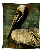 Brown Pelican Beauty Tapestry