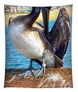 Brown Pelican Preen  Tapestry