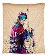 Bruce Springsteen Splats And Guitar Tapestry