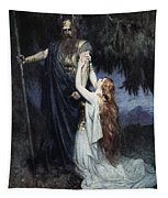 Brunhilde Knelt At His Feet, From The Tapestry