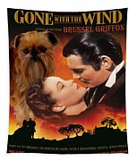 Brussels Griffon Art - Gone With The Wind Movie Poster Tapestry
