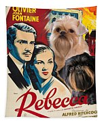 Brussels Griffon Art - Rebecca Movie Poster Tapestry