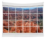 Bryce Canyon White Picture Window View Tapestry