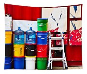 Buckets Of Color Tapestry