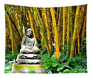 Buddha In The Bamboo Forest Tapestry