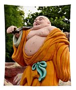 Buddhist Monk On Journey Haw Par Villas Singapore Tapestry