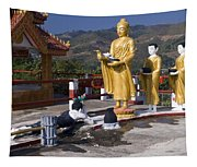 Buddhist Statues Tapestry
