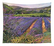 Buddleia And Lavender Field Montclus Tapestry