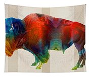 Buffalo Animal Print - Wild Bill - By Sharon Cummings Tapestry