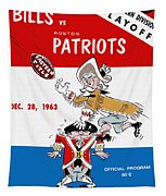 Buffalo Bills 1963 Playoff Program Tapestry
