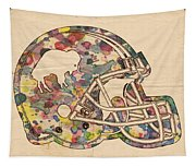Buffalo Bills Vintage Art Tapestry