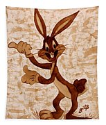 Bugs Banny Original Coffee Painting Tapestry
