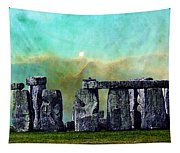 Building A Mystery 2 - Stonehenge Art By Sharon Cummings Tapestry