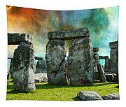 Building A Mystery - Stonehenge Art By Sharon Cummings Tapestry