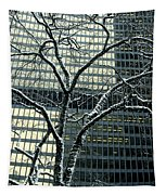 Building Reflection And Tree Tapestry