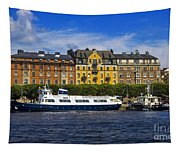 Buildings And Boats Tapestry
