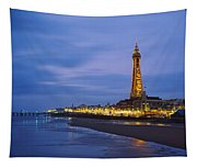 Buildings Lit Up At Dusk, Blackpool Tapestry