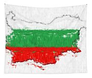 Bulgaria Painted Flag Map Tapestry