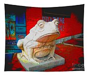 Bull Frog Painted Tapestry