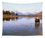 Bull Moose Grand Teton National Park Wy Tapestry