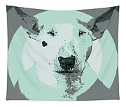 Bull Terrier Graphic 3 Tapestry