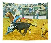 Bulldoggin Cowboys Tapestry