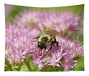 Bumble Bee On A Century Plant Tapestry