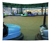 Bumper Cars At Monte Igueldo Amusement Tapestry