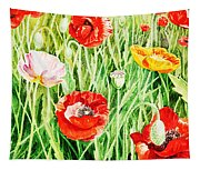 Bunch Of Poppies II Tapestry