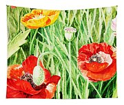 Bunch Of Poppies IIi Tapestry