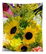 Bunch Of Sunflowers Tapestry