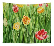 Bunch Of Tulips II Tapestry