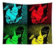 Bunny Pop Art Tapestry