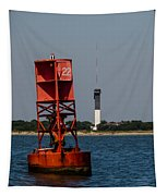 Buoy To Lighthouse Tapestry