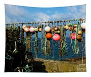 Buoys And Pots In Sennen Cove Tapestry
