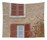 Rust Coloured Shutters Tapestry
