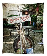 Burma Shave Sign Tapestry