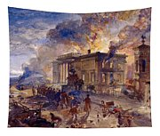 Burning Temple Of The Winds, 1856 Tapestry