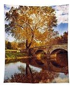 Burnside Bridge At Autumn Sunset Tapestry
