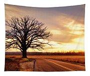 Burr Oak Silhouette Tapestry