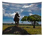 Bushbuck Guard Of The Mound   Tapestry