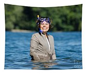 Business Woman Tapestry