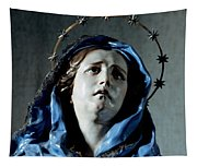 Bust Of Painful Virgin Tapestry