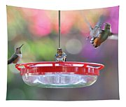Busy Day At The Feeder Tapestry