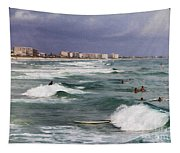 Busy Day In The Surf Tapestry